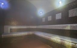 Binnenland van Turkse sauna royalty-vrije stock fotografie