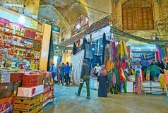 Binnenland van Vakil-Bazaar, Shiraz, Iran royalty-vrije stock foto's