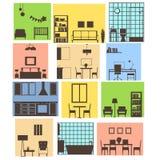 Binnenland van verschillende ruimten Vector illustratie stock illustratie