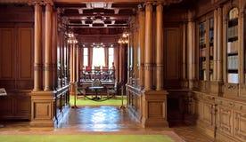 Binnenland van Villa Hugel Stock Foto's