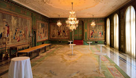 Binnenland van Villa Hugel royalty-vrije stock foto's