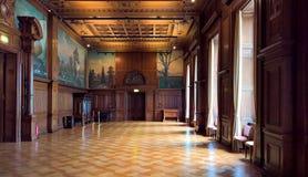 Binnenland van Villa Hugel Royalty-vrije Stock Foto