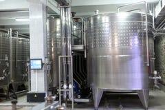 Binnenland van wijnmakerij stock afbeeldingen