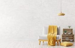 Binnenland van woonkamer met leunstoel het 3d teruggeven vector illustratie