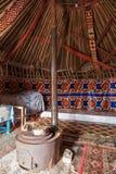Binnenland van yurt Stock Foto's