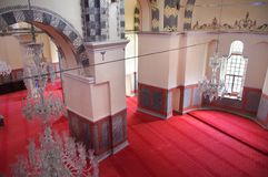 Binnenland van Zeyrek-Moskee, de vroegere kerk van Christus Pantokrator in modern Istanboel Royalty-vrije Stock Foto