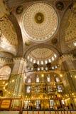 Binnenlands boogdetail binnen Istanboel Mosqu stock foto