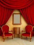 Binnenlands - de Klassieke woonkamer van de Stijl vector illustratie
