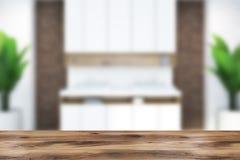 Binnenlands, dubbel de gootsteenonduidelijk beeld van de baksteen modern badkamers Stock Foto