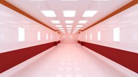 Binnenlands futuristisch ontwerpconcept Stock Afbeeldingen