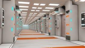 Binnenlands futuristisch ontwerpconcept Stock Fotografie