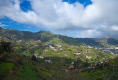 Binnenlands Gran Canaria, de winter stock foto's