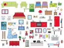 Binnenlands huis stock illustratie
