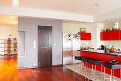 Binnenlands. Keuken Stock Afbeeldingen