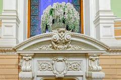 Binnenlands kunstwerken, decor en architectuur Stock Afbeeldingen