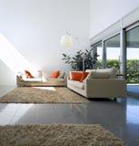 Binnenlands modern baksteenhuis Royalty-vrije Stock Foto's
