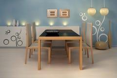 Binnenlands. Moderne keuken. Royalty-vrije Stock Afbeelding