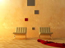 Binnenlands - Moderne stijlwachtkamer vector illustratie