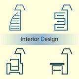 Binnenlands ontwerp Stock Afbeeldingen
