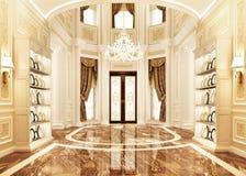 Binnenlands ontwerp in een klassieke stijl stock afbeeldingen