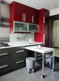 Binnenlands ontwerp - keuken Stock Afbeelding