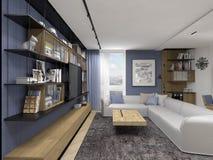 Binnenlands ontwerp in moderne stijl Stock Foto's
