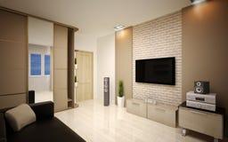 Binnenlands Ontwerp. Moderne woonkamer Stock Fotografie