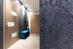 Binnenlands ontwerp - ruwe muurtextuur Royalty-vrije Stock Foto's