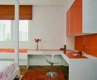 Binnenlands ontwerp - slaapkamer stock afbeeldingen