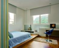 Binnenlands ontwerp - slaapkamer Royalty-vrije Stock Afbeeldingen