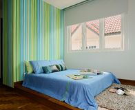 Binnenlands ontwerp - slaapkamer royalty-vrije stock foto's