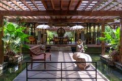 Binnenlands ontwerp van Balinese huisvesting stock afbeeldingen