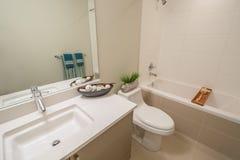 Binnenlands ontwerp van een luxebadkamers Stock Foto's