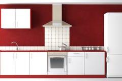 Binnenlands ontwerp van moderne keuken Stock Fotografie