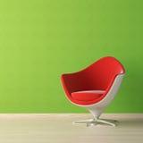 Binnenlands ontwerp van rode stoel  Stock Foto's