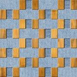 Binnenlands Ontwerpbehang - jeans en houten textuur Stock Afbeelding