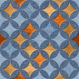 Binnenlands Ontwerpbehang - jeans en houten textuur Stock Foto