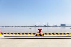 Binnenlands pijler en yangtze rivierlandschap royalty-vrije stock afbeelding