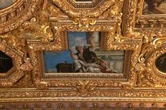 Binnenlands Plafond in het Paleis van de Doge in Venetië royalty-vrije stock afbeeldingen