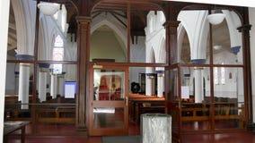 Binnenlands wijd geschoten van een begrafeniskapel royalty-vrije stock foto's