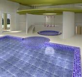 Binnenlands zwembad met draaikolkton Royalty-vrije Stock Afbeelding