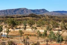 Binnenlandscène, Noordelijk Grondgebied, Australië royalty-vrije stock foto