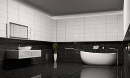 Binnenlandse 3d van de badkamers vector illustratie