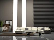 Binnenlandse 3D van het huis Stock Afbeeldingen