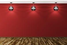 Binnenlandse achtergrond met lampen het 3d teruggeven stock illustratie