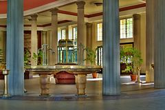 Binnenlandse architectuur in Franzensbad in Tsjechische Republiek Stock Afbeeldingen