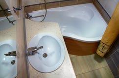 Binnenlandse badkamers royalty-vrije stock foto