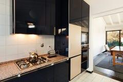 Binnenlandse, binnenlandse keuken Royalty-vrije Stock Afbeelding