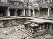 Binnenlandse binnenplaats in de Tempel van Kambodja Stock Foto's