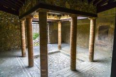 Binnenlandse Binnenplaats in Roman Villa Stock Foto's